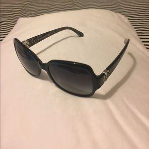 "Tory Burch ""Glam"" 57mm Logo Hinge Sunglasses"
