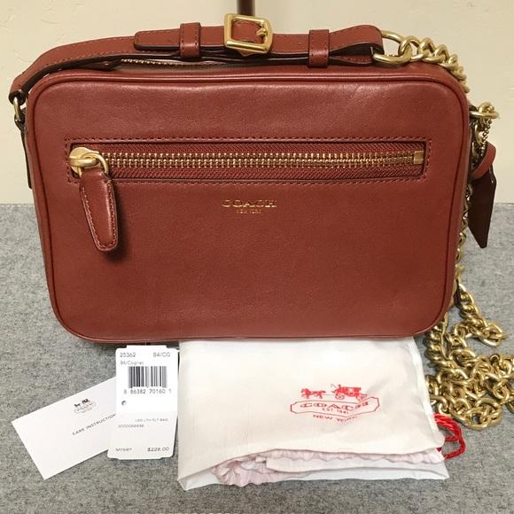 654988a2d0 Coach Handbags - COACH Cognac Leather Legacy Flight Bag NWT