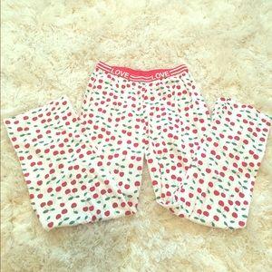 Woman's Pajama pants Retro Vintage style Cherries