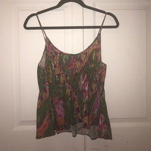 Zara multi color tank top flowy blouse