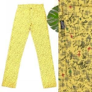 Other - vintage 1980s Levi's yellow jeans retro 80s pants