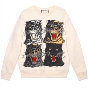 "Tops - Ladies oversized luxury brand ""tiger"" sweatshirt"
