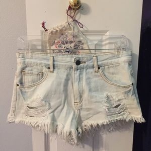 Distressed Shorts - Forever 21