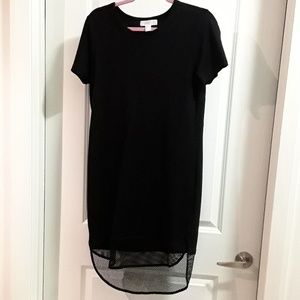 Black Jersey Hi-Low Dress