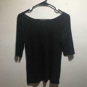 Ballet back 3/4 sleeve shirt