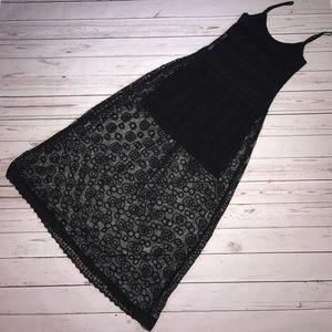 Zara trafaluc collection Maxi Embroidered dress