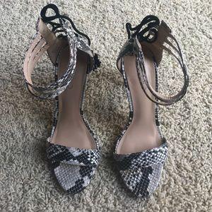 Aldo snake skin heels