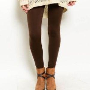 Pants -  Dark brown leggings