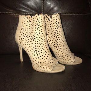 Cream Suede Aldo Heels