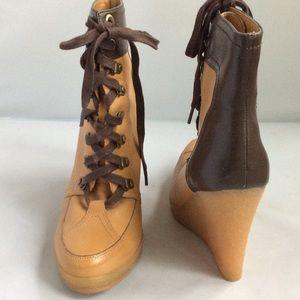 Zara Wedge Boots 39 EUC