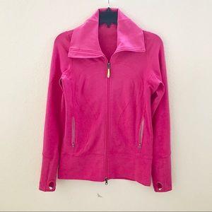 Lululemon Full Zip Jacket Hot Pink Size 4