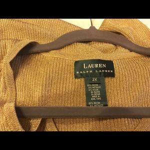 Gold Ralph Lauren Sleeveless Knit Top