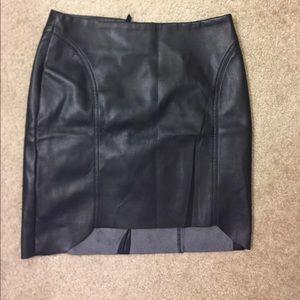 H&M leather imitation mini skirt