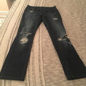 Free People Boot Cut Ripped Jean