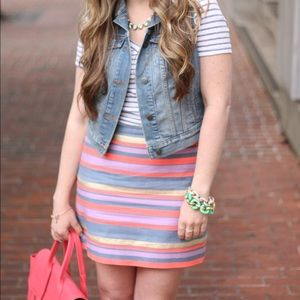 J.Crew • Striped Skirt