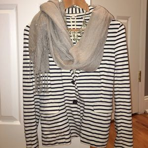 J Crew Navy striped blazer