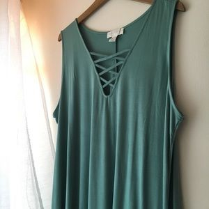 Plus Size Green Strappy Dress