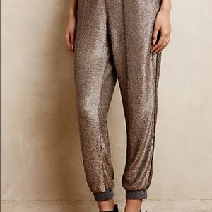 Anthropologie Starry night joggers xs