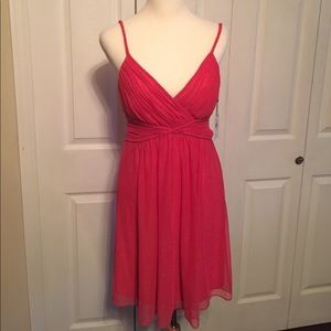 Calvin Klein sheer Watermelon Party Dress