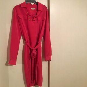 hot pink Calvin Klein work dress