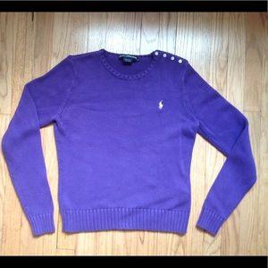 Purple Ralph Lauren Sport Women's Sweater Lg