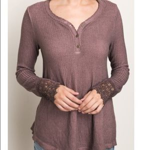 Tops - Thermal Lace Blouse