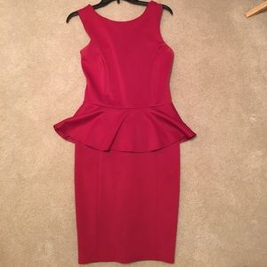 Dresses & Skirts - Red Peplum dress