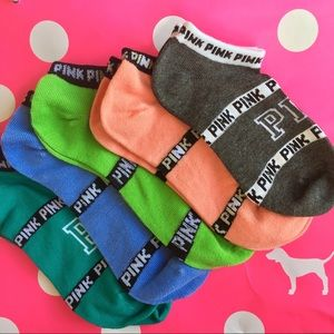 5 Pairs Victoria's Secret Pink ankle socks