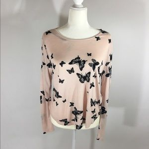 H&M long sleeve Blouse M butterfly's