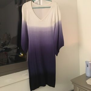 Andrew Marc Ombré Sweater Dress