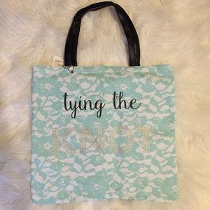"""Handbags - Reversible Bride tote """"Tying and Tied"""". the knot"""