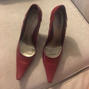 Red patent leather BCBG heels - size 6.5