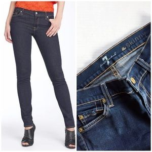 7 For All Mankind The Skinny Dark Blue Jeans 26