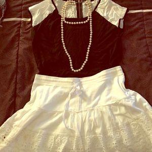 Fun white skirt!