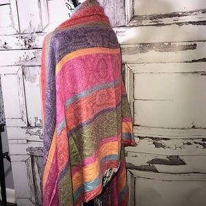Bohemian Multicolored Box Scarf Wrap