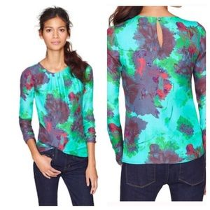 J Crew Silk Blouse in Hothouse Floral