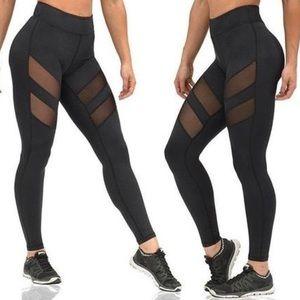 Pants - Sexy Mesh Splice Women's Workout Leggings