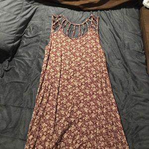 High-low strap floral dress
