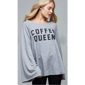 Tops - COMING SOON: Coffee Queen graphic flare sleeve top
