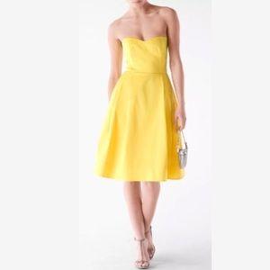 NEW! Calvin Klein Strapless Midi Canary Dress
