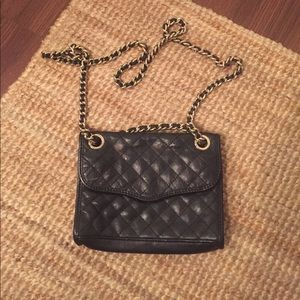 Black quilted cross body