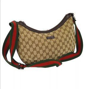 Gucci GG pattern canvas shoulder/ crossbody bag