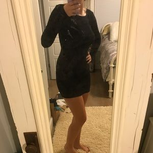nwot black forever 21 long sleeve bodycon dress