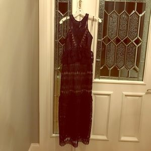 Self-Portrait Dress Size 2 Navy Long