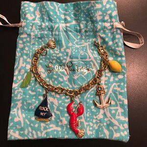🔥Extremely Rare Lilly Pulitzer Charm Bracelet!🔥