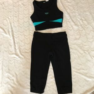 Black Calcin klein work out pants