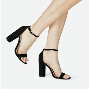 NWT cute black heels