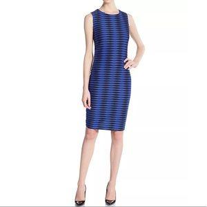 NEW! Calvin Klein Geometric Textured Sheath Dress