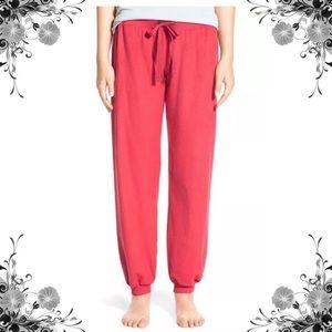 {BP} Juniors Red Beauty Fleece Drawstring PJ Pants