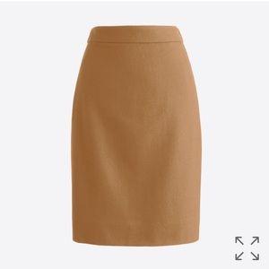 J Crew pencil skirt double serge wool oatmeal 6